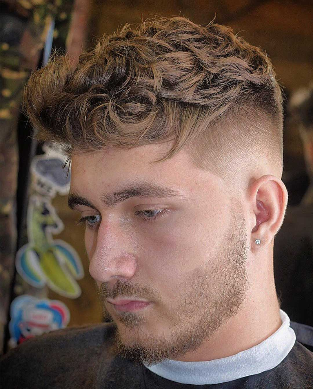 Messy High Top Fade