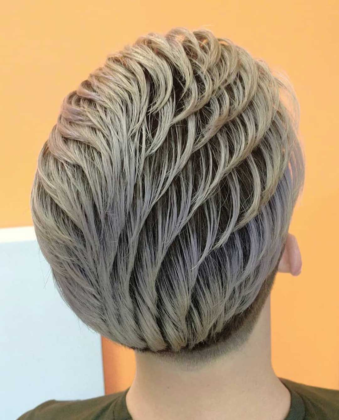 Blonde Slicked Back with Textures