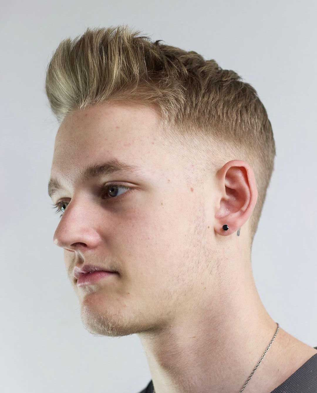 Clean Quiff with High Fade