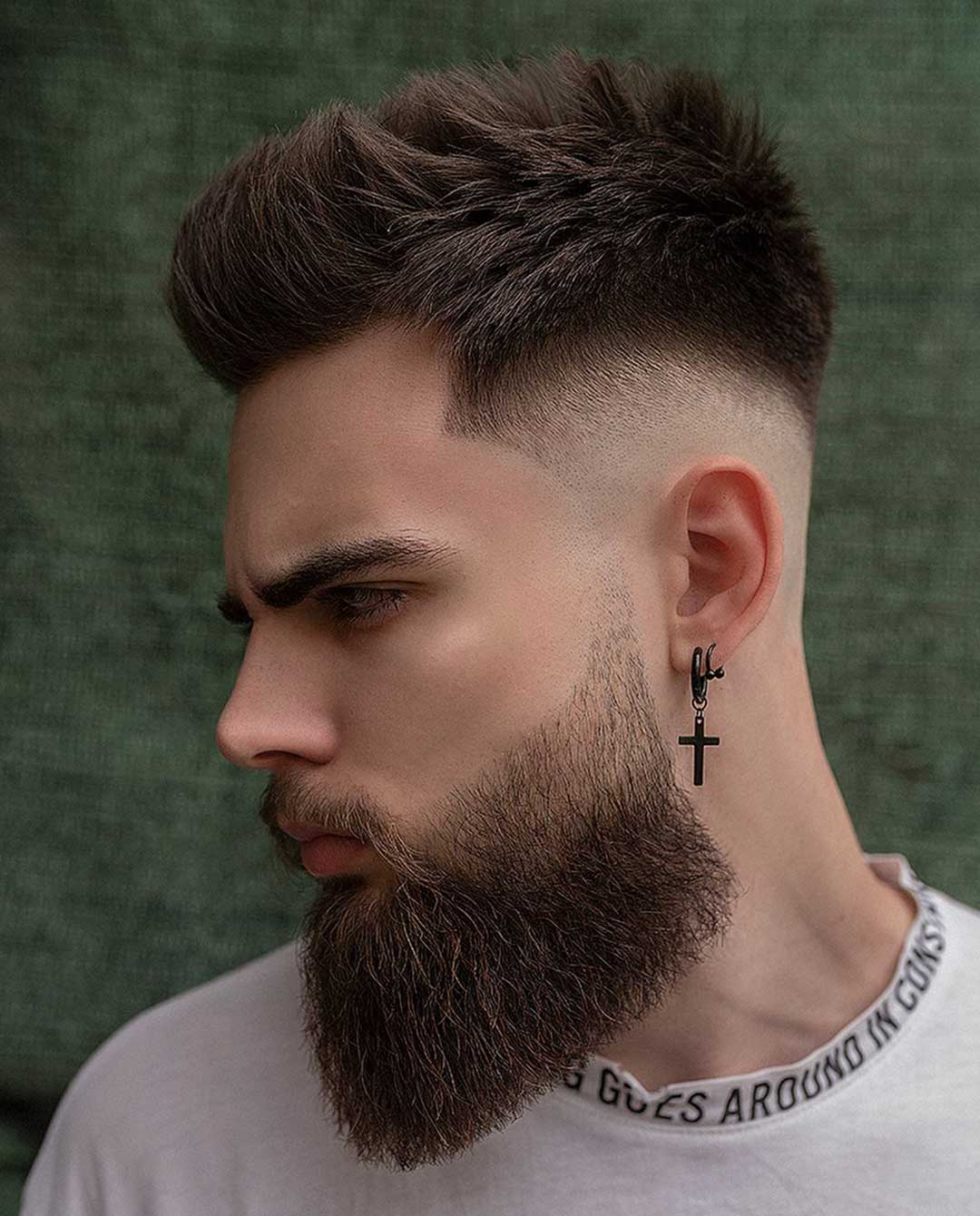High Top Quiff with Drop Fade