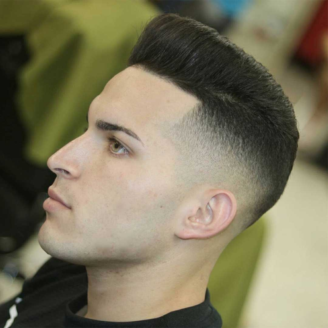 Short Pompadour with High Fade