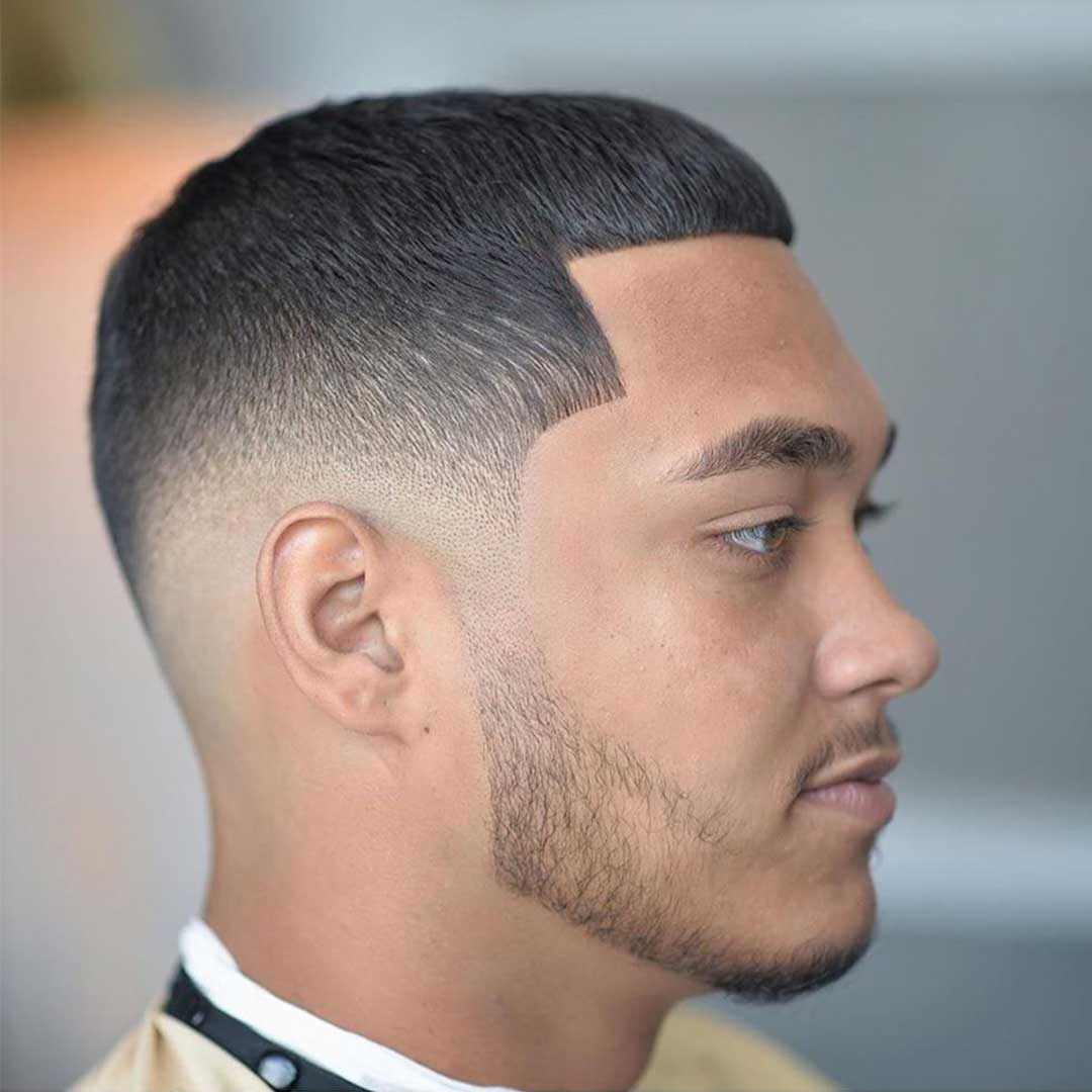 Caesar with Low Fade