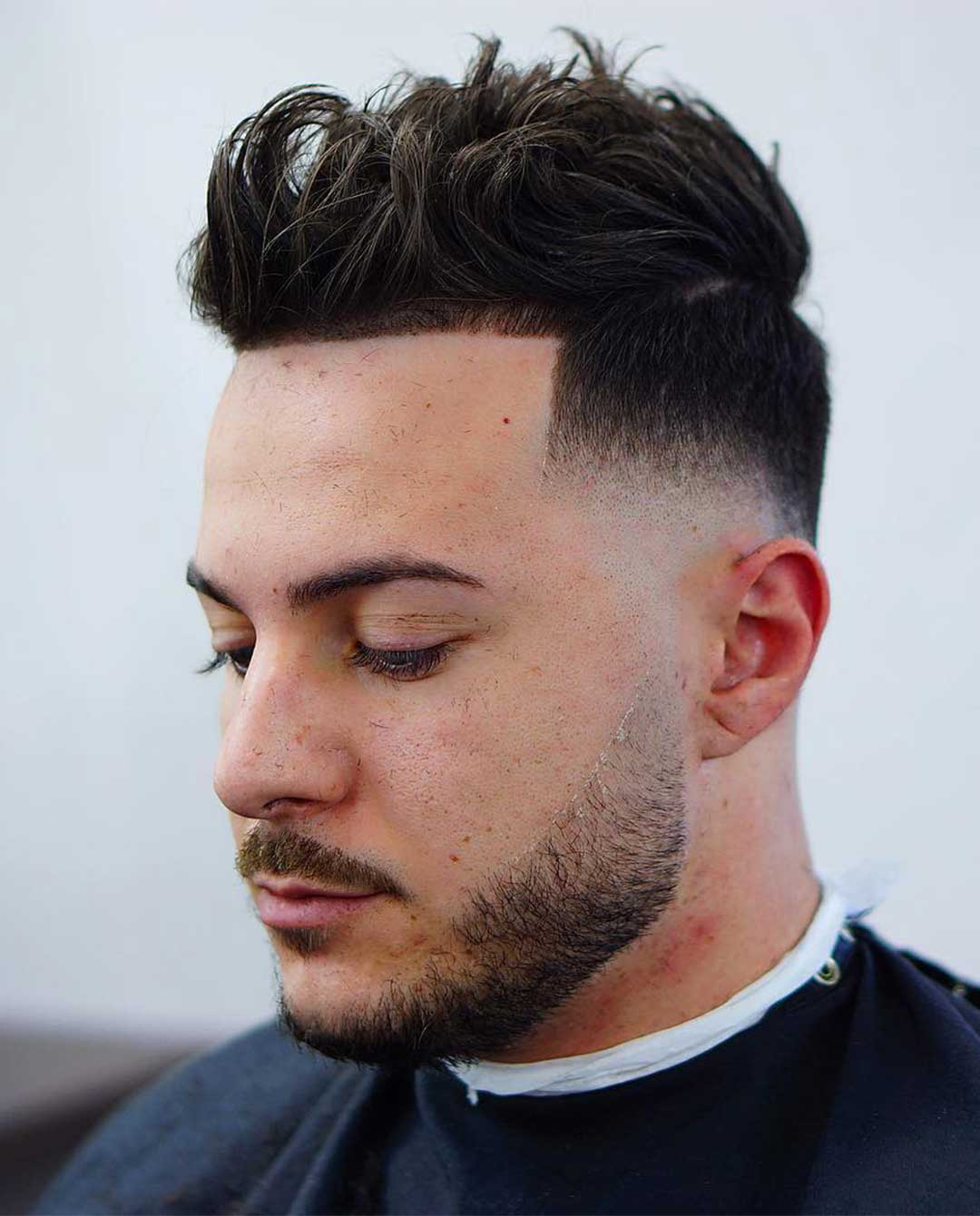 High Fade + Curls