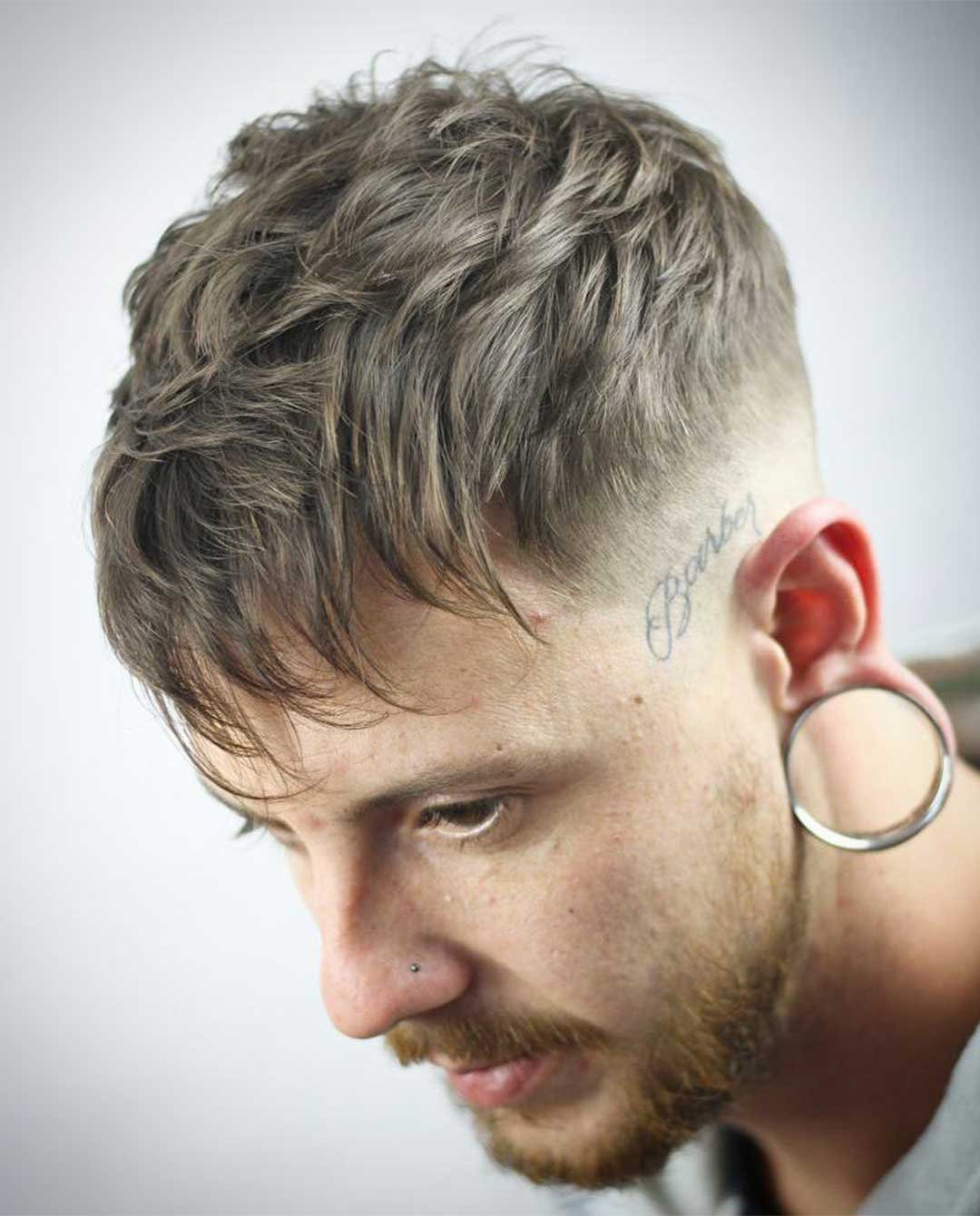 Long Fringe with High Fade