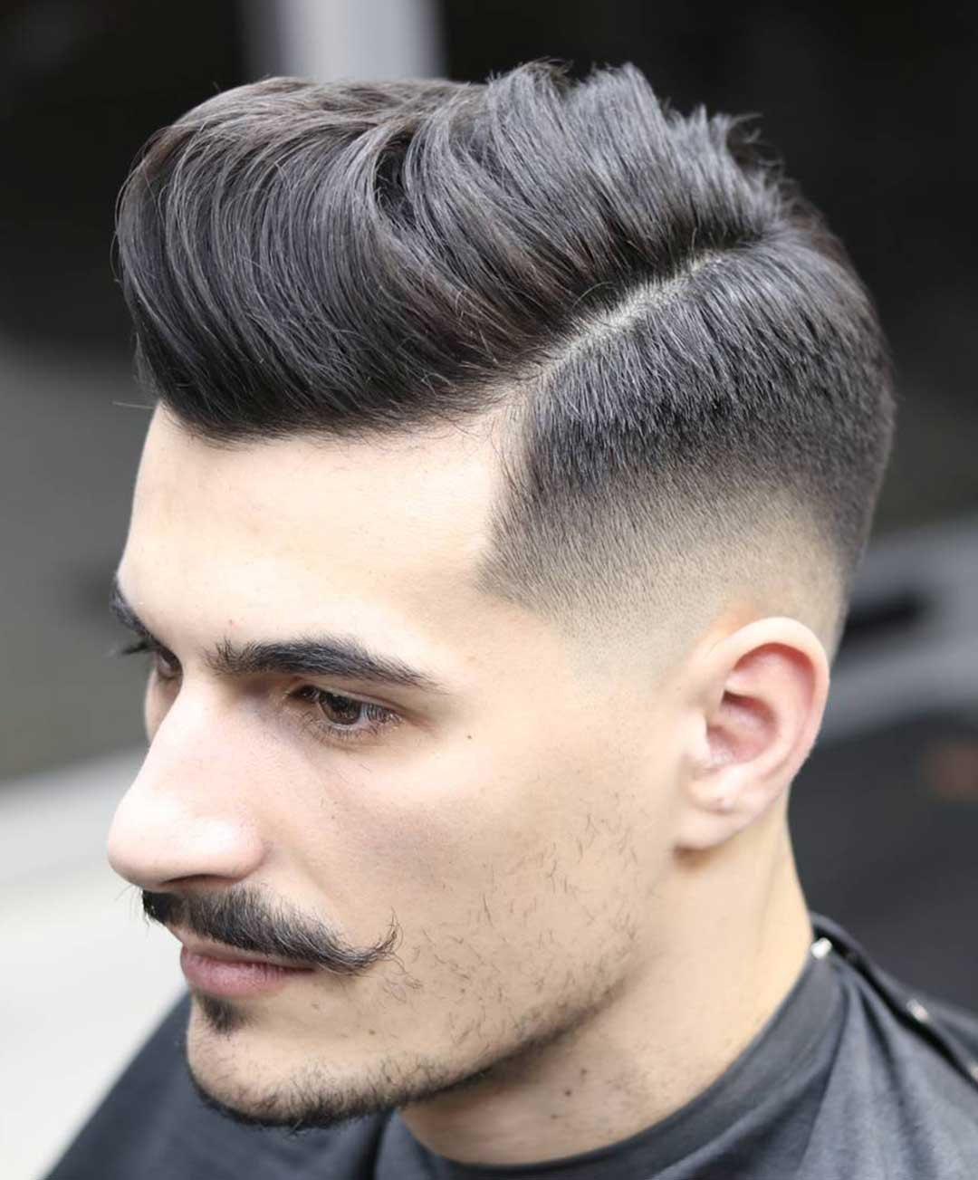 Classic Comb Over with Fade