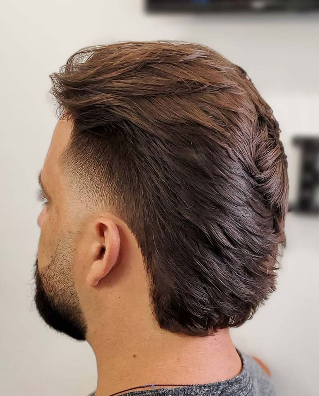 Ducktail with Taper Fade