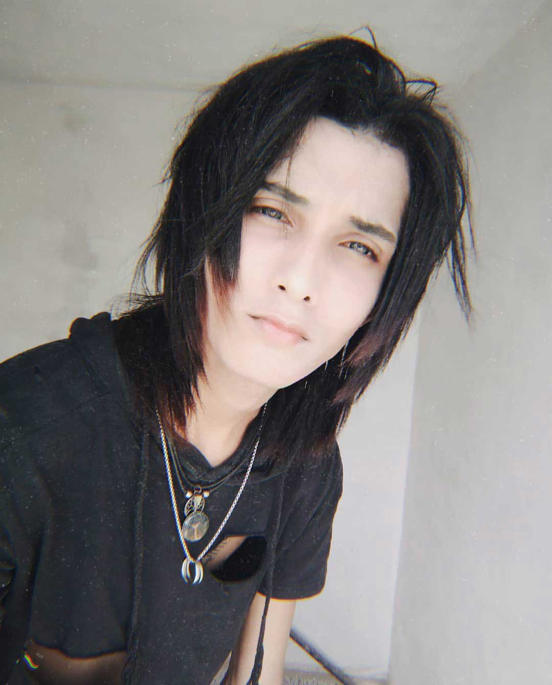 Middle Part Emo Hairstyle