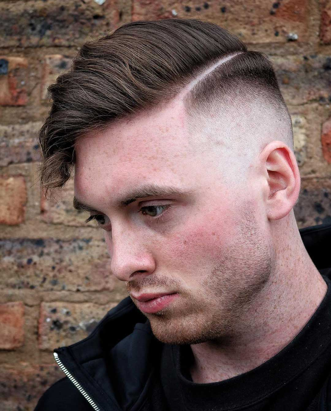 Side Swept with Drop Fade