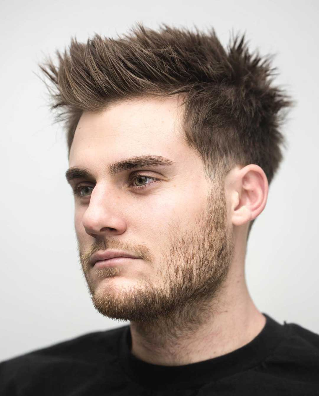 Spiky Quiff with Low Taper fade