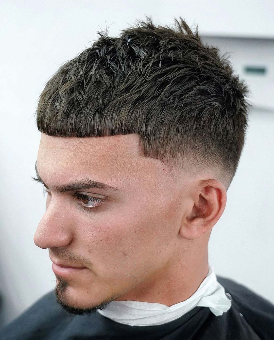Textured Caesar + High Taper Fade